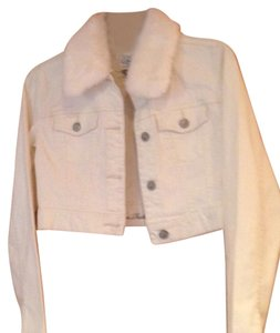 White House | Black Market Cream Womens Jean Jacket