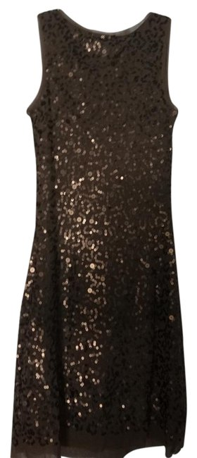 Item - Metallic Bronze Gold XS New Sequined Above Knee Night Out Dress Size 2 (XS)