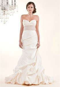 Winnie Couture Pearl Satin Mermaid Traditional Wedding Dress Size 8 (M)