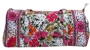 Vera Bradley Duffel Tea Garden Travel Bag