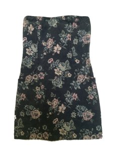 Heritage 1981 short dress Denim Floral on Tradesy