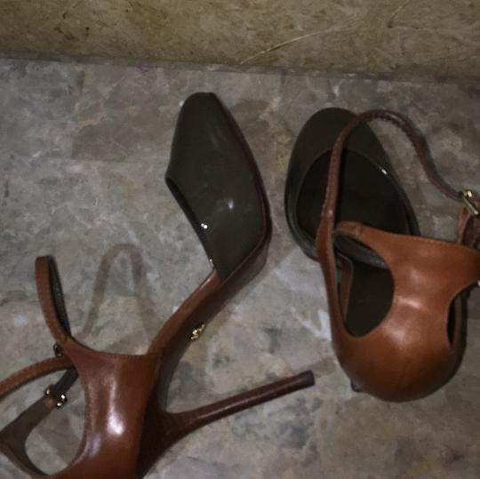 Tory Burch Taupe and brown Platforms Image 11