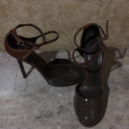 Tory Burch Taupe and brown Platforms Image 4