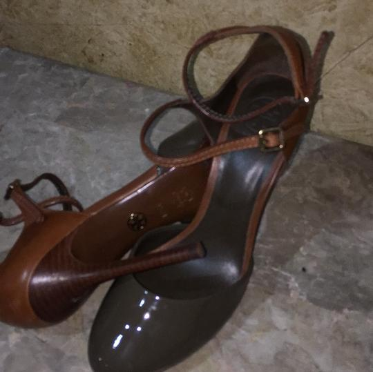 Tory Burch Taupe and brown Platforms Image 5