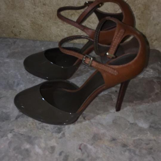 Tory Burch Taupe and brown Platforms