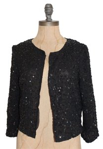 Urban Outfitters Sequin Evening Night Out Date Night Embellished BLACK Jacket