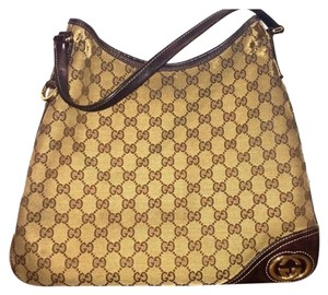 Gucci Tote in Beige/ Brown