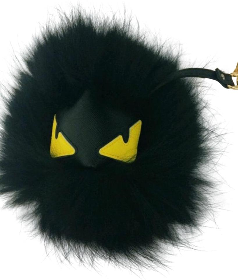375e3522aa5 Fendi Black and Yellow Fur Bag Bugs Monster Key Chain Bag Charm ...