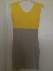 American Apparel short dress Yellow/Tan on Tradesy