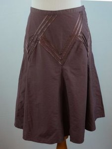 Club Monaco Ribbon Trim Blend Plum Skirt Purple