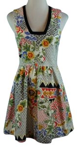 Line & Dot And Textured Floral Pockets Dress