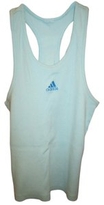 adidas Logo Racer Workout Excercise Top Blue