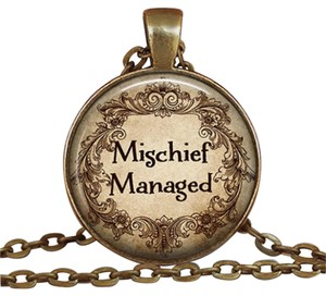 mischief managed cobochan charm necklace