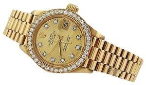 Rolex 18k Yellow Gold 26mm Diamond Presidential Watch