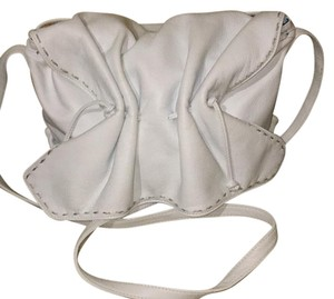 Carlos Falchi White Messenger Bag