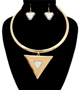 Other Choker Chevron Necklace Set