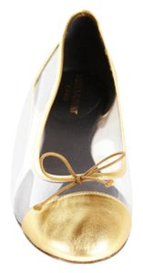 Saint Laurent Gold / Clear Flats