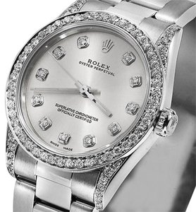 Rolex Ladies 67480 Mid-size 31mm Watch Silver Watch SilverDial