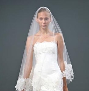 Monique Lhuillier Sz 6/8 Zuzanna Lace Silk Razmir Wedding Dress