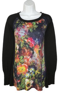 Anthropologie Angel Of North Floral Sweater