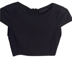Alice + Olivia + Crop Top Black
