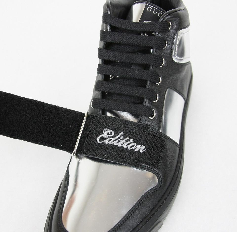 24cea074eeb Gucci Silver Black Men s High-top Sneaker Limited Edition 376194 1064 Size  13 G. 1234567891011