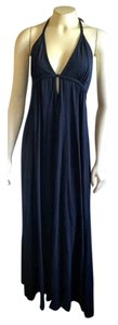 Navy Blue Maxi Dress by Anthropologie