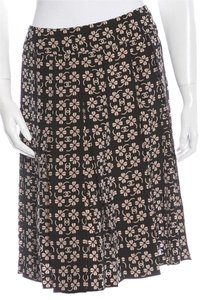 Chanel Interlocking Cc Monogram Cc Logo Pleated Skirt Black, Brown, Gorl, Beige, Yellow