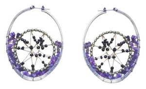 Urban Outfitters Urban outfitters beaded hoop earrings