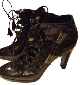 Stuart Weitzman Lace Tassel Plaid Black, Plaid Boots