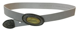 Chico's Luxurious Frosted Pearl White Belt