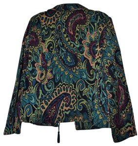 Molly and Maxx Multi-Colored Paisley Blazer
