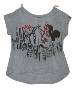 Disney Minnie Glitter T Shirt Gray