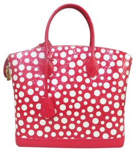 Louis Vuitton Lv Lockit Red White Tote in red&white