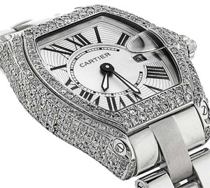 Cartier Ladies Roadster W62016v3 Stainless Steel Watch Diamond Case