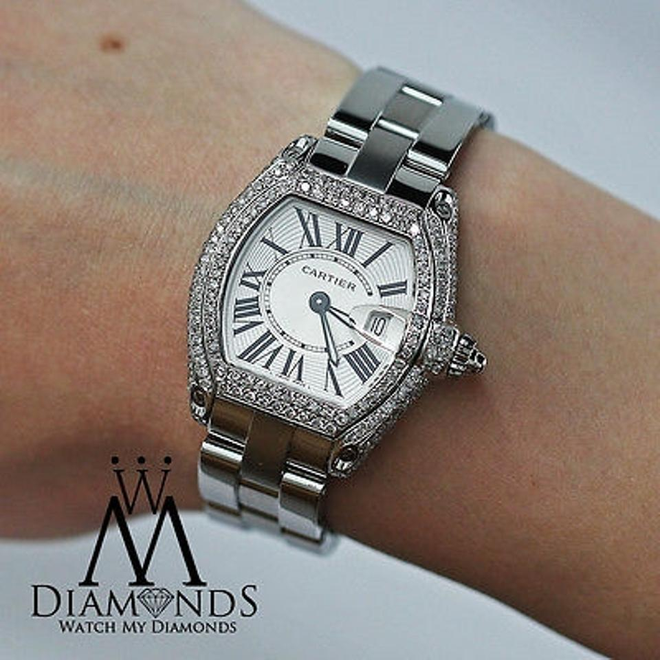 cartier from htm xl santos xxl for on sale diamonds chronograph seller a diamond