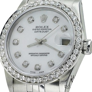 Rolex 26mm Midsize Datejust White Diamond Dial Jubilee Bracelet Diamond