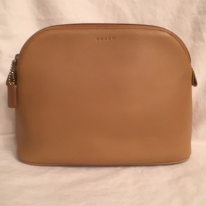Coach NEW! Cosmetic Bag Leather Large 9'' Coach
