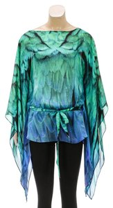 Roberto Cavalli Top Blue/Green