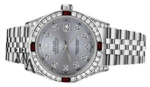 Rolex Ladies Rolex 26mm Datejust Grey Color Dial with Ruby & Diamond Accent RT Watch