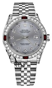 Rolex Women's Rolex 31mm Datejust Grey Color Dial with Ruby & Diamond