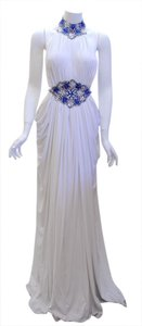 Frankie Couture Blue Beading Dress