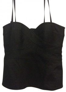 Nanette Lepore Strapless Detachable Straps Sweetheart Top Dark Grey