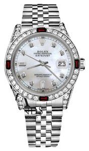 Rolex Rolex 36mm Datejust White MOP Dial with Ruby & 8+2 Diamond