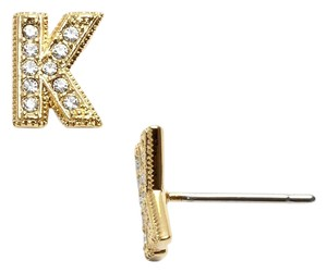 Nadri Nadri 'Novelty' Initial Stud Earrings K