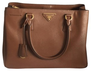 Prada Saffiano Lux Tote in Brown