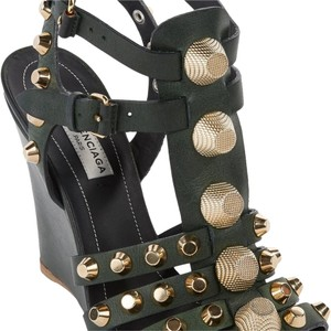 Balenciaga Dark Green Wedges