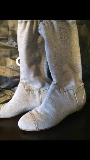 Chanel gray Boots Image 2