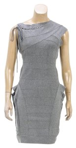 Hervé Leger short dress Gray on Tradesy