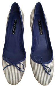 Ralph Lauren Blue Label Blue/White Pumps